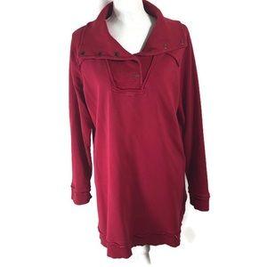 Soft Surroundings Red Tunic Sweatshirt Size XL